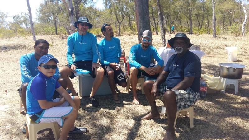 Yemaya Adventures Crew: Hemraz, Patrick, Matthieu, Xavier and Sooklall