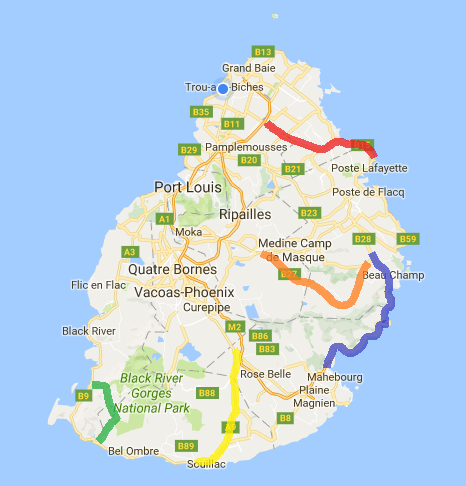 Top Things To Do In Mauritius In Mauritius Conscious - Map mauritius roads