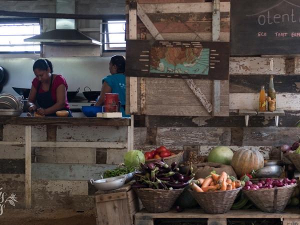 Traditional kitchen at Otentic Eco-Lodge