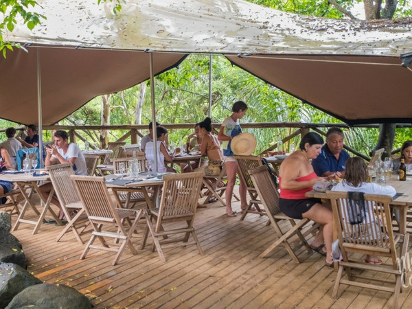 Open-air restaurant at Otentic Eco-Lodge