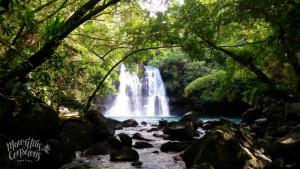 Guided hike to the mystical Eau Bleu Waterfalls