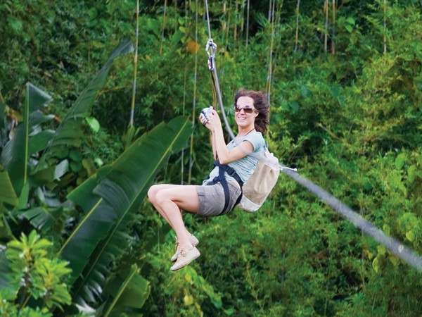 Zip-lines across mountains in an Ecotourism Reserve