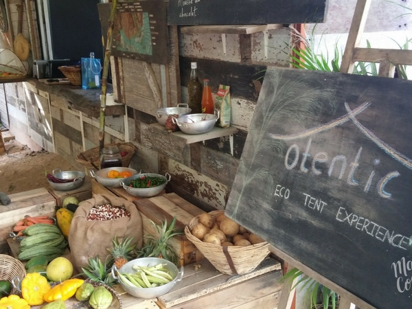 Traditional Mauritian kitchen at Otentic Eco-Lodge
