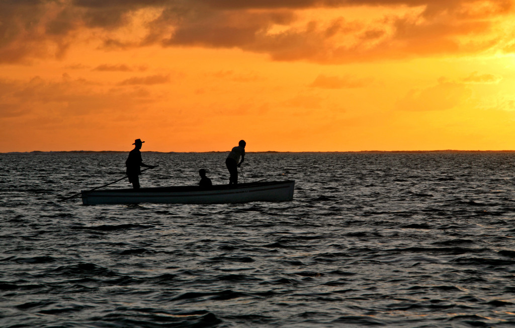 Traditional fishing in Rodrigues Island